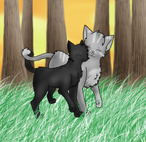Crowpaw and Feathertail by mirandooom