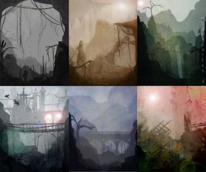 5 minute sketch challenge - environment practice by meganparkes