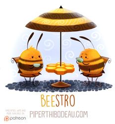 Daily Paint 1598. Beestro by Cryptid-Creations