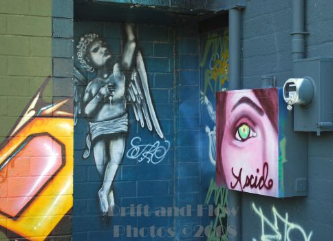 Colorized Art Wall Angels by driftandflow