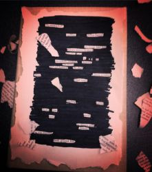 black out poetry by Tuggersgirl