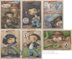 indiana jones KotCS cards by katiecandraw
