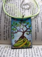 Tree on a hill necklace II by Ideas-in-the-sky
