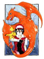 Commission: Pokemon Red by Gezusfreek