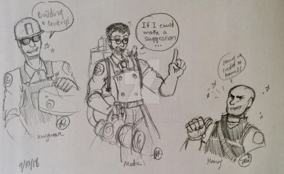 My Drawings of TF2 Characters by LarryDaCat