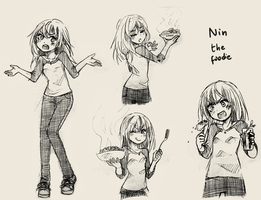 SKETCHPAD FINDS: Nin the foodie by NickBeja