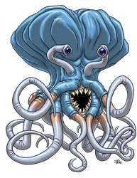 Blue-Tentacled Thing by ProdigyDuck