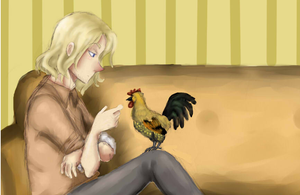 Man and his cock by EsuNeh