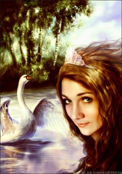 Princess - swan by Jasvena