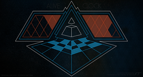 Alive Clock by Fire-Time