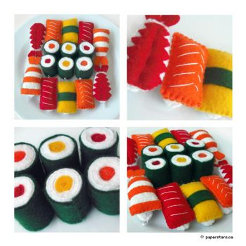 Sushi by littlepaperforest