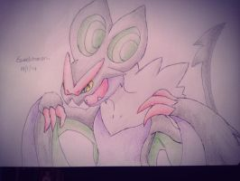 Noivern -Sketchbook- by Eeveelutionarii