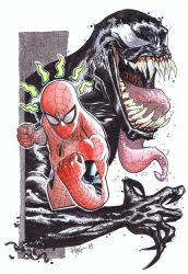Spiderman and Venom by RyanOttley