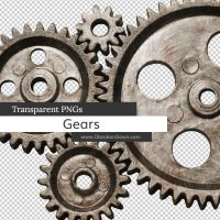 Gears Transparent PNGs by redheadstock