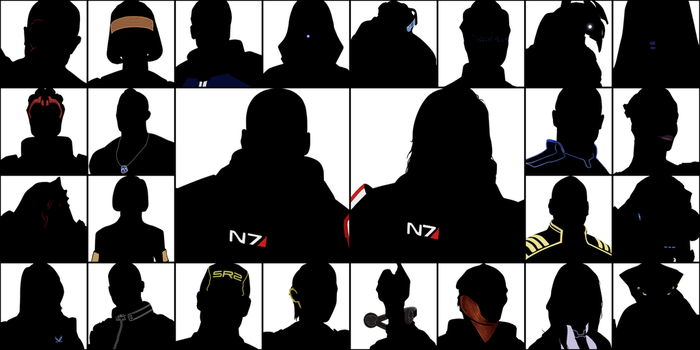 Mass Effect - Silhouettes by ShadowCutie1