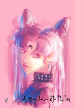 BlackLady-speed painting by AkiMao