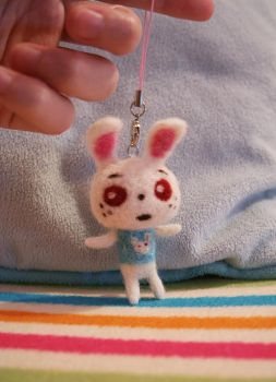 Needle Felted Ruby Charm by couchmochi