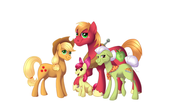 Apple family by NiviMonster