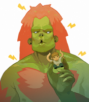 Blanka Has An Ono Toy by contraomnes