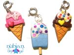Icecream and Popsicle charms by colourful-blossom