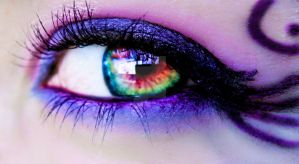 behind these colorful eyes by Ladybrandybuck