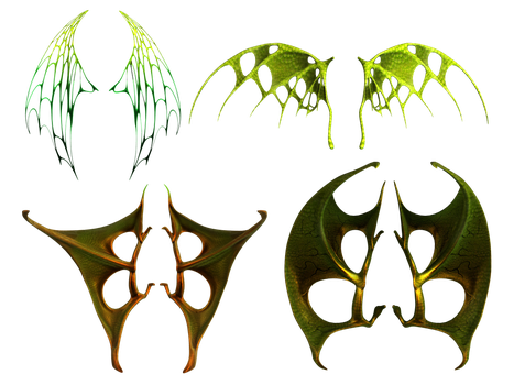 Evil Wings Stock by Roy3D
