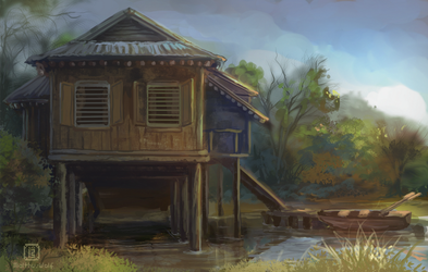 Daily sketch 2 - Edge of the swamp by MalthusWolf
