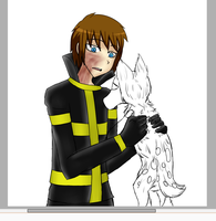 FlameFreak and Mocha [Work In Progress] by AllTheLittleWonders
