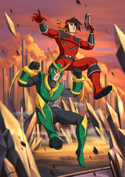 Quantum Ranger Ryoga and  Neo-ROM by mario-reg