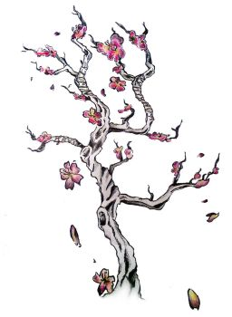 Cherry Blossom Tattoo by sweetsarcasm