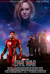 Captain Marvel: Civil War movie poster by ArkhamNatic