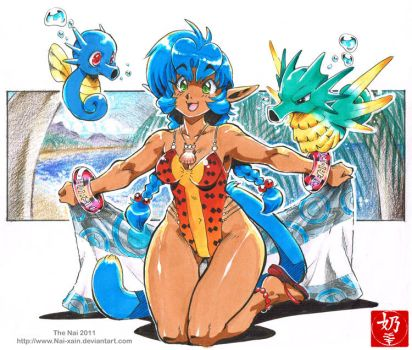 Pokemon Beach by The-Nai