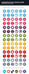 Communication and Social Icons by BlinVarfi
