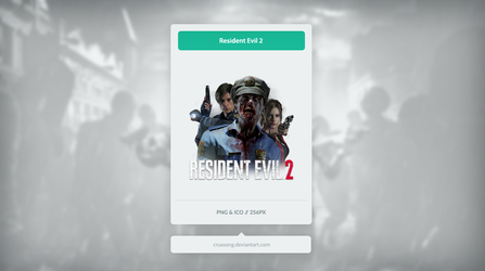 Resident Evil 2 - Icon by Crussong