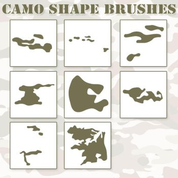 Camo Shapes PS Brushes by Retoucher07030