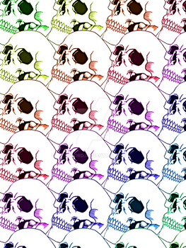 Rainbow Skulls by sislord