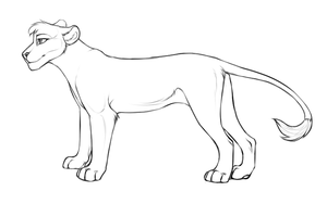Free lion/lioness lineart by Danni-Minoptra