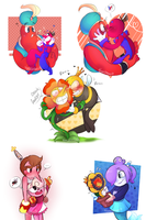 Favorite Cuphead Ships 2 + childs  by KarlaDraws14