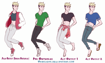Pierce Outfits by Markiehh