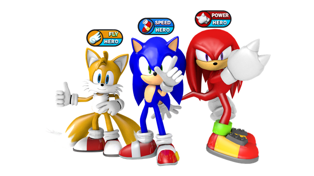 Sonic Heroes 2 Team Hero Render by Silverdahedgehog06