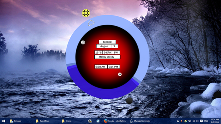 Screenshot of my new Rainmeter skin by trevorblackhart