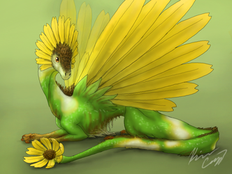 Flower Dragon by Fadinglory