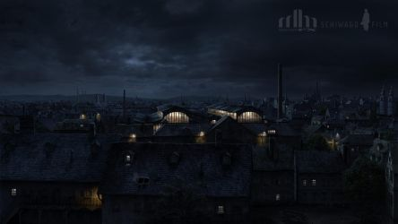 Vienna Night Matte Painting by Jacklionheart