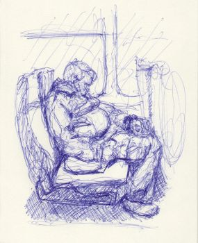 On the Bus (Sketch 104) by Radiance-Eternal