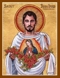 St. Juan Diego icon by Theophilia