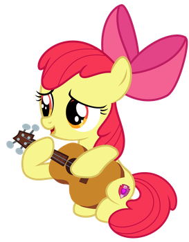 Apple Bloom Playing the Guitar Vector by Magpie-pony