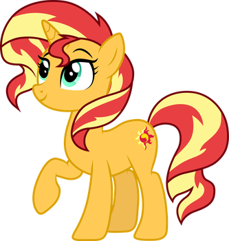 Sunset Shimmer pony by CloudyGlow