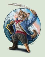 Captain Stumpy the Pirate Cat by bonbon3272