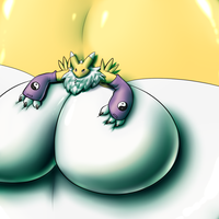 Blimping Renamon by RickyDemont