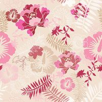 Floral Botanical 1 Pink Camel by chamelledesigns